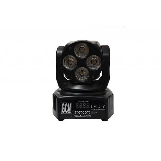 Mini Cabeza Movil 6 en 1 RGBWA + UV 4 x 10W GCMpro