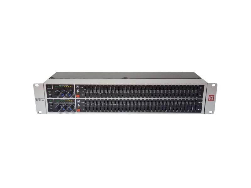 Ecualizador GQ-3102 31+31 Bandas Estereo con recorte de banda Gcm Pro