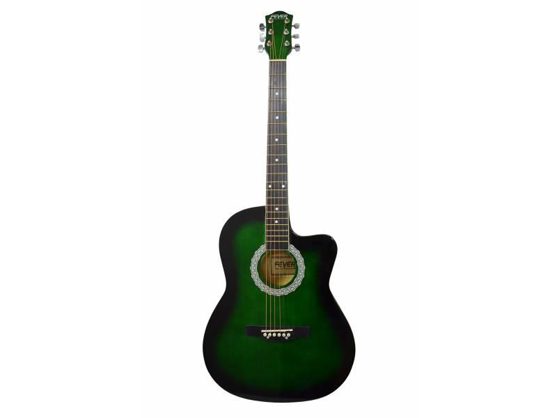 Guitarra Acustica Fever, Cuerdas de Acero, Calidad Superior + Funda de Regalo!