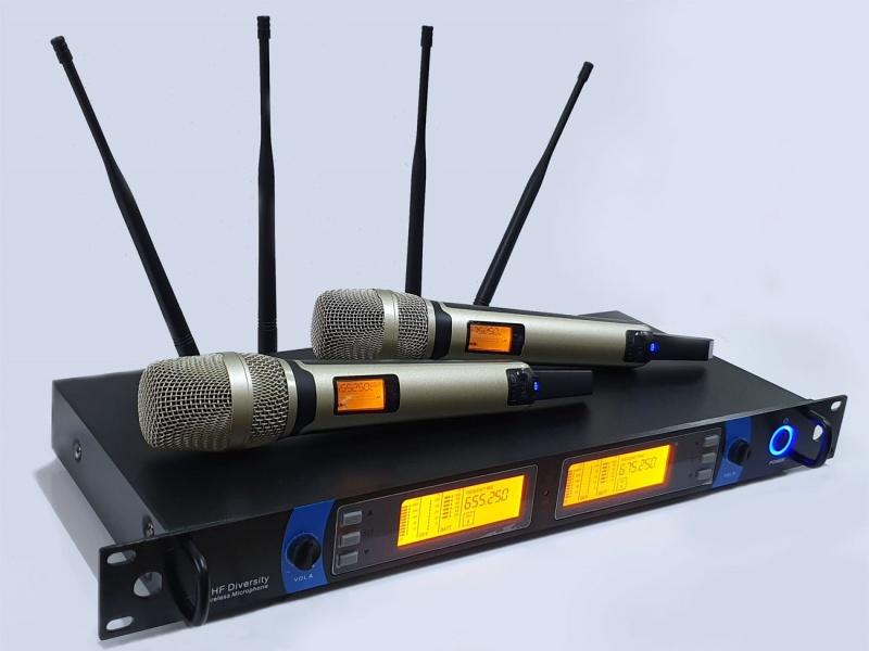 KIT 2 Microfonos inalambrico UHF GCM GT-8000 120 MTS EFECTIVO