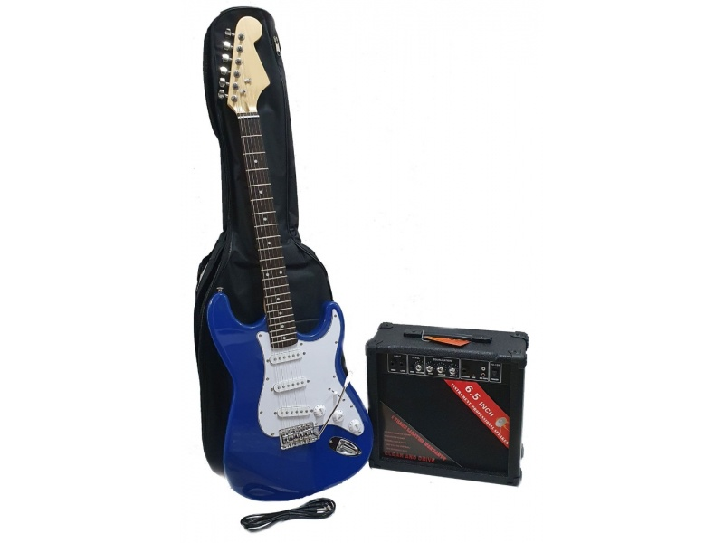 Kit combo Guitarra Eléctrica Fever + Amplificador + Funda + Cable