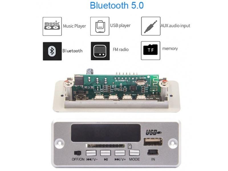 Placa decodificadora lectora USB bluetooth FM SD con control remoto