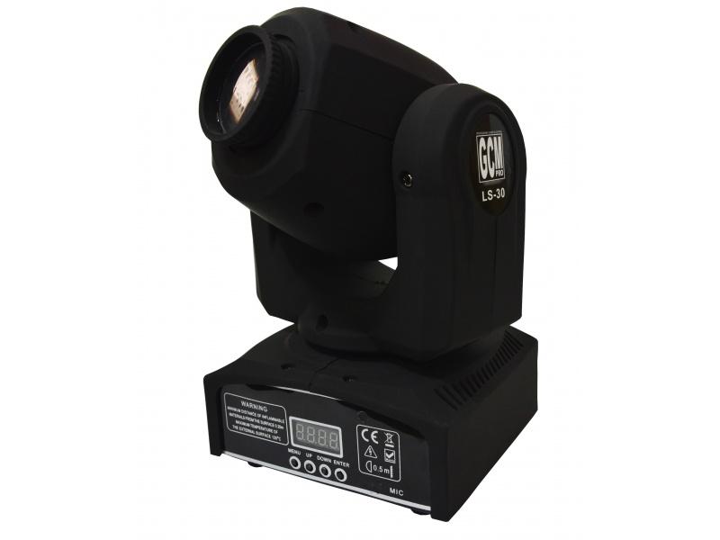 Mini Cabeza Movil Spot LED LS-30 8 Colores Gobos + Blanco GCMpro 30W