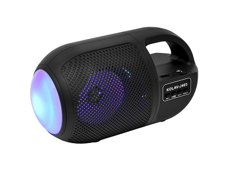 """PARLANTE PORTATIL 4.5"""" FM USB BLUETOOTH LED KOLAV-J403"""
